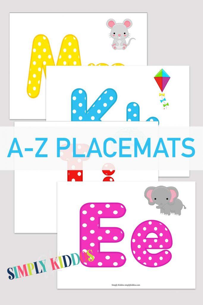 Alphabet Placemats