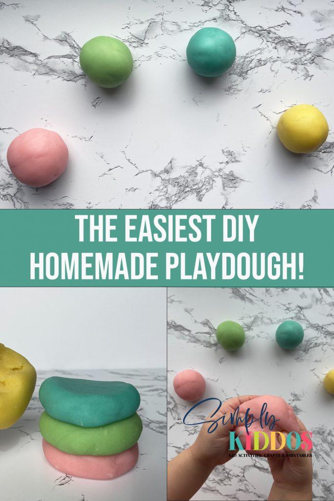 Homemade Play Dough Pin Image