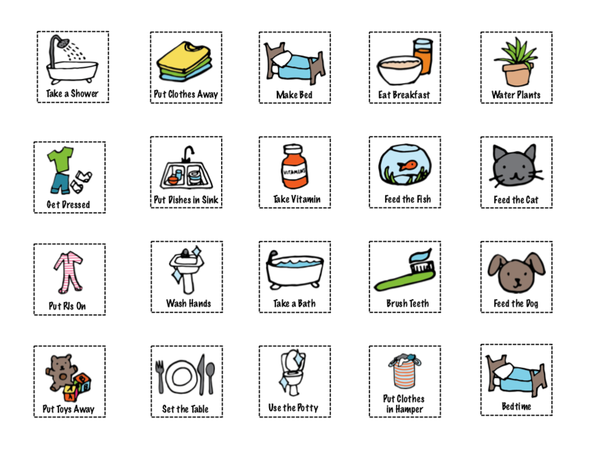 Chore Chart Icons