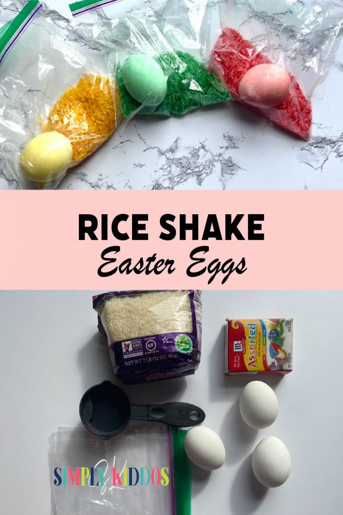Color Eggs with Rice Pinterest Image