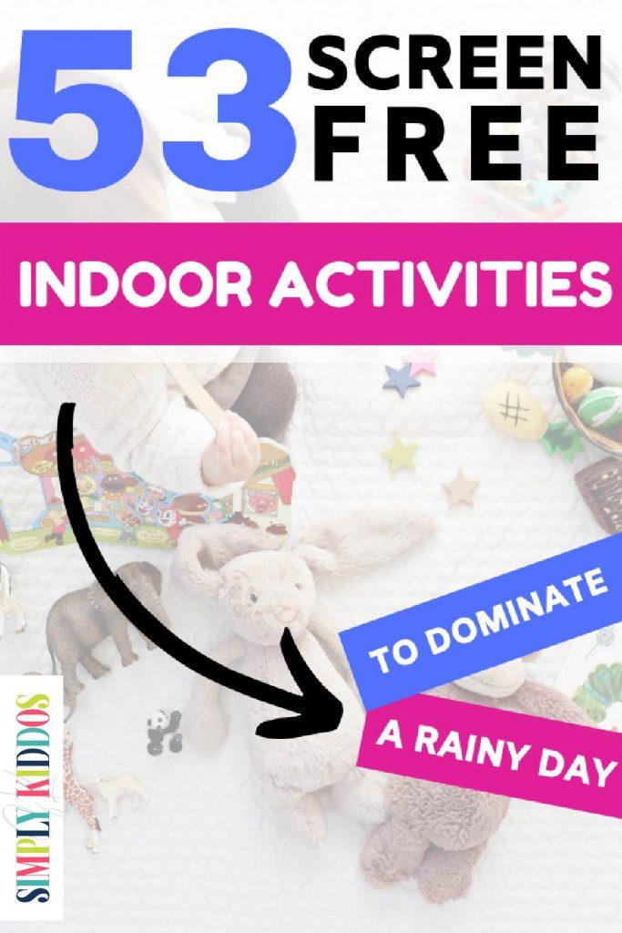 Indoor Activities for Kids Pin Image