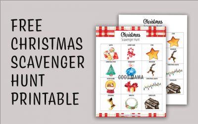 Kids Christmas Scavenger Hunt Printable
