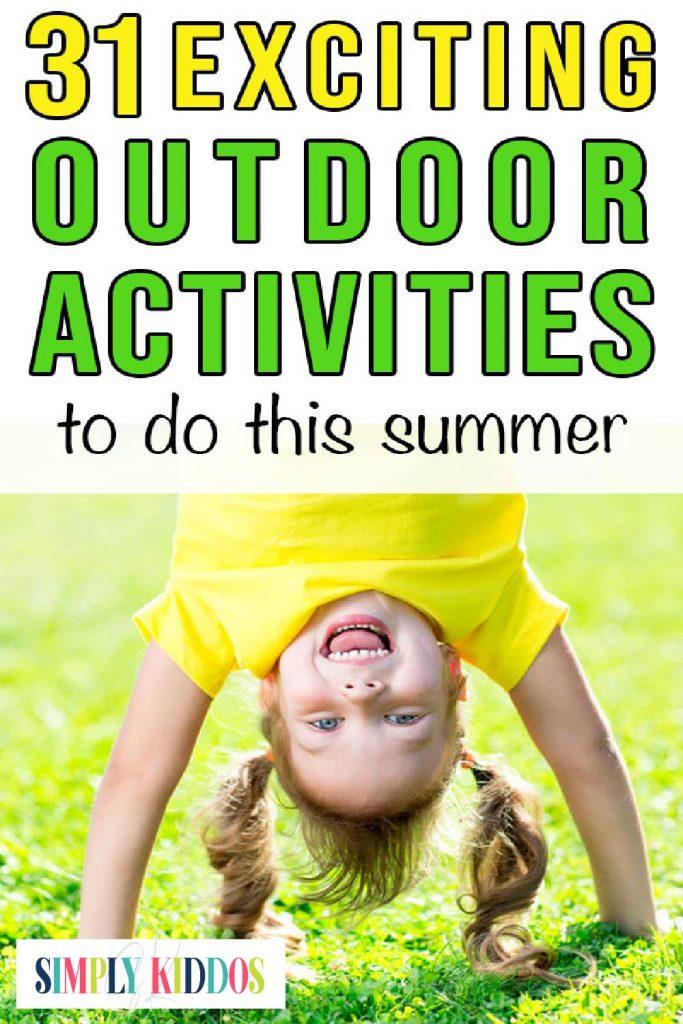 Outdoor activities for kids pin image